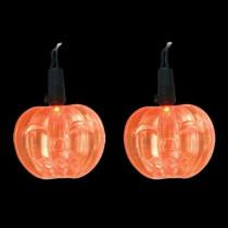 LED Orange Battery Operated Pumpkin Lights (Set of 10)