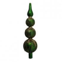 3-Tier Green Glass Tree Topper