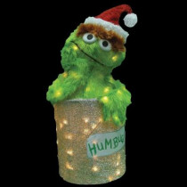 18 in. Pre-Lit Oscar The Grouch Yard Decor