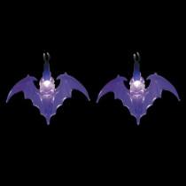 LED Purple Battery Operated Bat Lights (Set of 10)