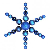 31 in. Blue Shatterproof Star Flake Ornament