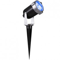 3.54 in. 3-Light Blue LED Outdoor Spotlight Stake (2-Pack)