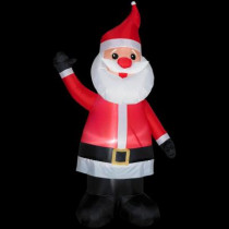 7 ft. H Inflatable Santa with Red Nose
