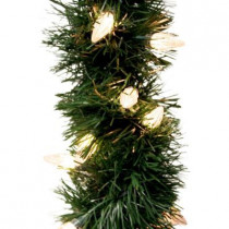 18 ft. Holiday Classics Artificial Garland with 100 C6 Clear Lights