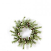 Evergreen Collection 36 in. Snowy Pine Artificial Christmas Artificial Christmas Wreath