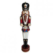 6 ft. Jeweled Animated Nutcracker with Moving Hands and Music