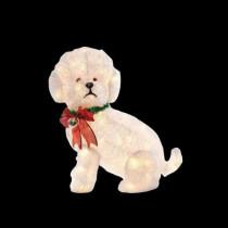 24 in. Pre-Lit Fluffy Dog