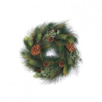 Evergreen Collection 24 in. Pine, Fir, Juniper Artificial Christmas Wreath