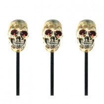 Battery Operated Skull Light and Sound Haunted Pathmarkers (3-Pack)