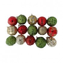 Christmas Cheer Glass Ornament (Count of 15)
