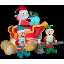 5.6 ft. H Inflatable Animated Santa with Sleigh