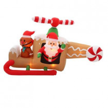 8 ft. W Inflatable Animated Gingerbread Helicopter