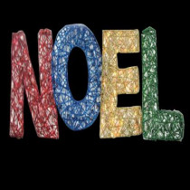 15.5 in. 150-Light Spun Glitter Noel Silhouette
