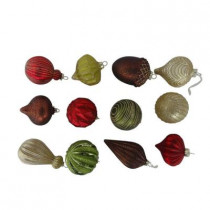 80 mm Christmas Cheer Glass Ornament (Count of 12)