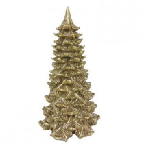 16 in. Winter's Wonder Gold Glitter Christmas Tree