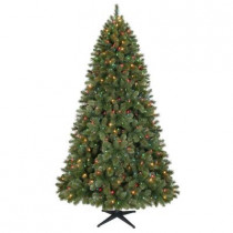 7.5 ft. Wesley Mixed Spruce Artificial Christmas Tree with 540 Multi-Color LED Lights
