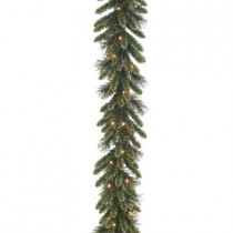 9 ft. x 10 in. Glittery Gold Pine Garland with Glitter, Gold Cones, Gold Glittered Berries