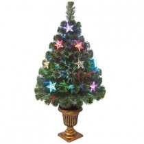 3 ft. Fiber Optic Evergreen Artificial Christmas Tree with Star Decoration