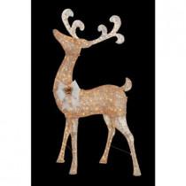 7.5 ft. Pre-Lit Gold Standing Deer