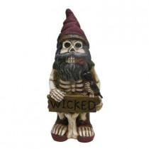 16 in. H Skeleton Garden Gnome Statue
