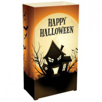 11 in. Plastic Luminaria Lanterns - Haunted House (Set of 12)