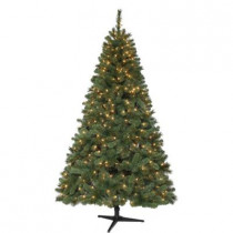 6.5 ft. Wesley Mixed Spruce Artificial Christmas Tree with 400 Clear Lights