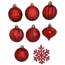 2.3 in. Red Shatter-Resistant Christmas Ornament (101-Pack)