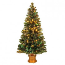 4 ft. Fiber Optic Fireworks Evergreen Artificial Christmas Tree