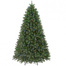 7.5 ft. FEEL-REAL Downswept Douglas Fir Artificial Christmas Tree with 750 Multi-Color Lights