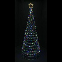 6 ft. Pre-Lit LED Twinkling Tree Sculpture with Warm White and Multi-Color Lights