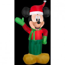3.5 ft. H Inflatable Holiday Mickey in Winter Outfit