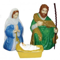 Nativity Set with Kneeling Joseph with Staff