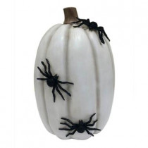 16 in. Creepy Crawly Pumpkin with Spiders
