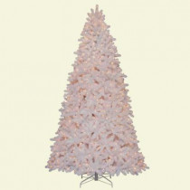 9 ft. Devon White Spruce Quick-Set Artificial Christmas Tree with 950 Clear Lights