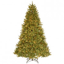 9 ft. FEEL-REAL Grande Fir Artificial Christmas Tree with 900 Clear Lights