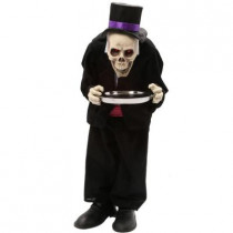 36 in. Animated Skeleton Butler with Serving Tray