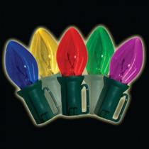 Old Fashioned 25-Light C7 Multi-Color Light Set (Set of 2)