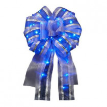 12in. Ribbon Bow LED Blue