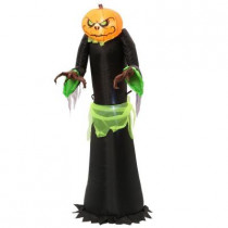 20.47 in. W x 25.59 in. D x 60 in. H Inflatable Airblown Pumpkin Reaper