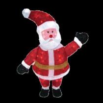 36 in. 70-Light 3D Snowy Soft Santa