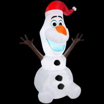 42 in. H Inflatable Olaf with Santa Hat
