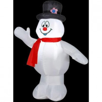 3.5 ft. H Inflatable Frosty with Top Hat-Red Scarf