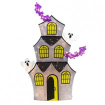72 in. 150-Light Tinsel Ghost House