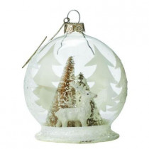3.5 in. Deer Winter Globe Ornament