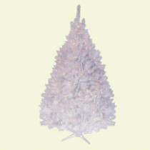 6.5 ft. Pre-Lit Deluxe Pure White Winter Fir Artificial Christmas Tree with Clear Lights