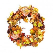 34 in. Artificial Harvest Wreath
