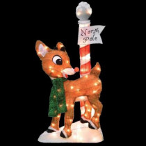 32 in. Pre-Lit Rudolph at the North Pole