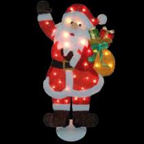31 in. Pre-Lit Tinsel Santa