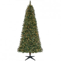7.5 ft. Wesley Mixed Spruce Quick-Set Slim Artificial Christmas Tree with 500 Clear Lights
