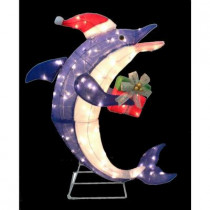36 in. Pre-Lit Dolphin with Gift